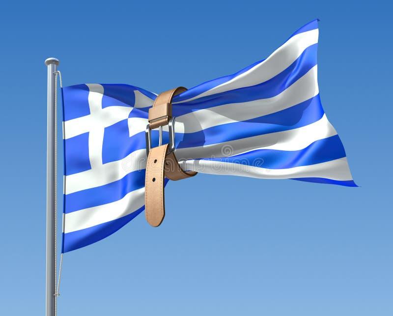 Griekse crisis vector illustratie