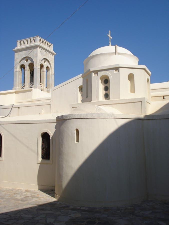 Griekse de Kerkzonneschijn van Cycladen Naxos royalty-vrije stock fotografie
