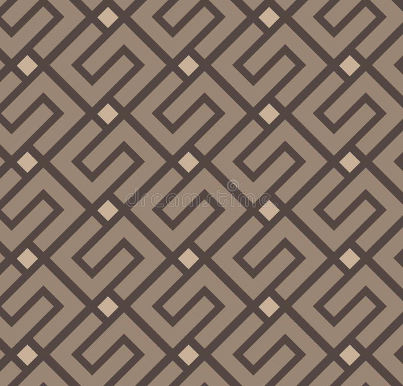 Griekse eenvoudige naadloze elegant van het damast vectorpatroon stock illustratie