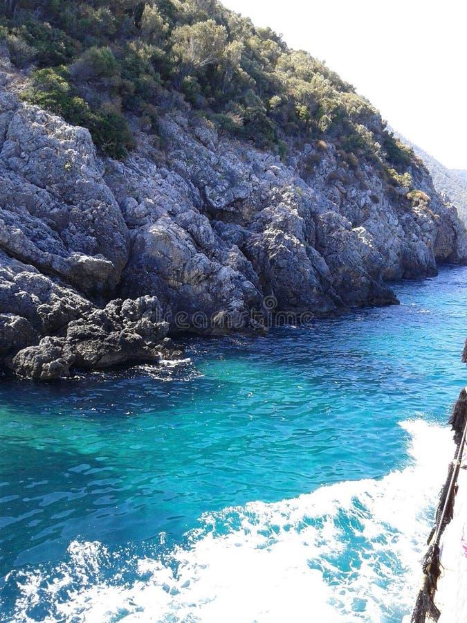 Griekse eilanden op Egeïsche overzees stock fotografie