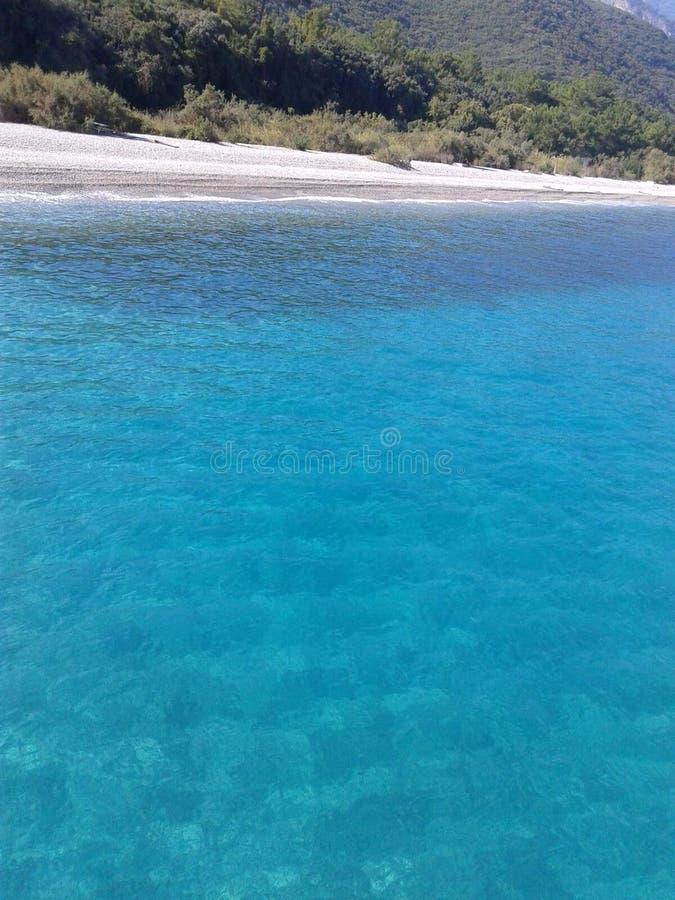 Griekse eilanden op Egeïsche overzees stock foto