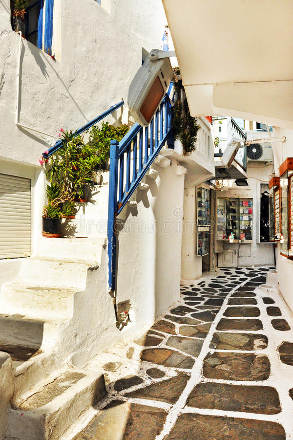 Griekse eilandmykonos royalty-vrije stock foto
