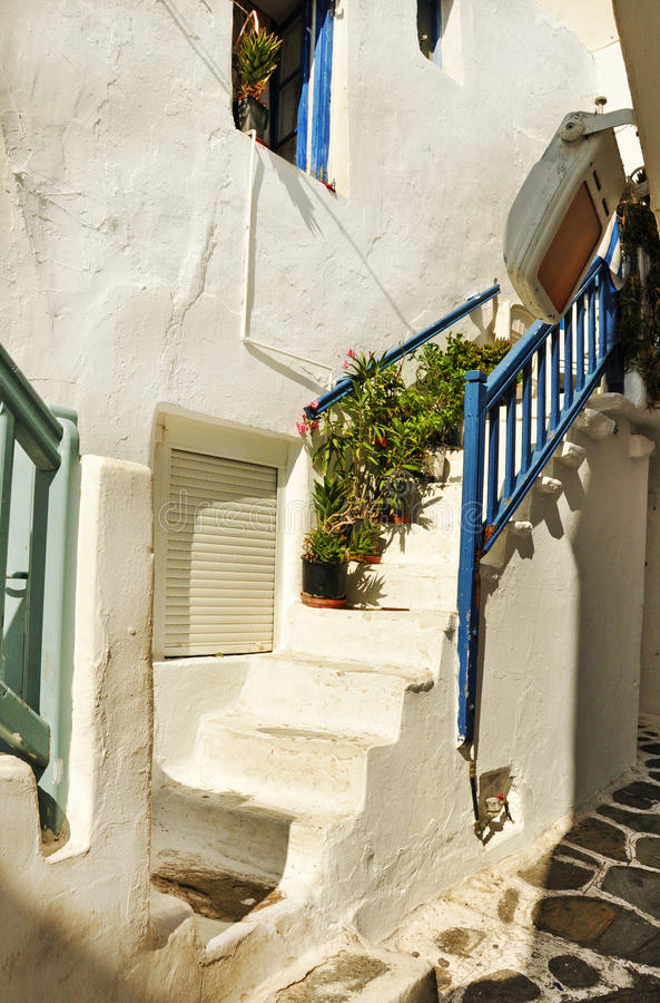 Griekse eilandmykonos stock afbeelding