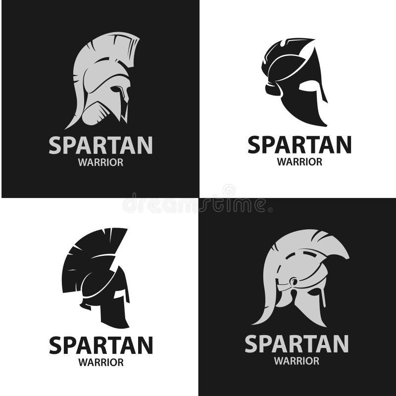 Griekse en Roman strijdershelmen royalty-vrije illustratie