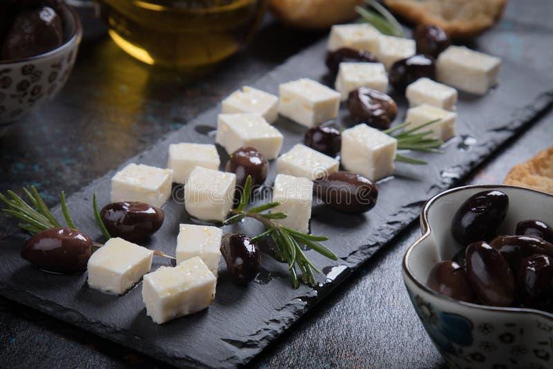 Griekse feta kaas stock foto