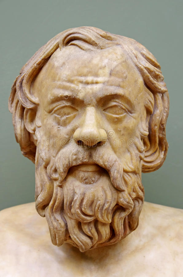 Griekse filosoof Socrates stock foto's