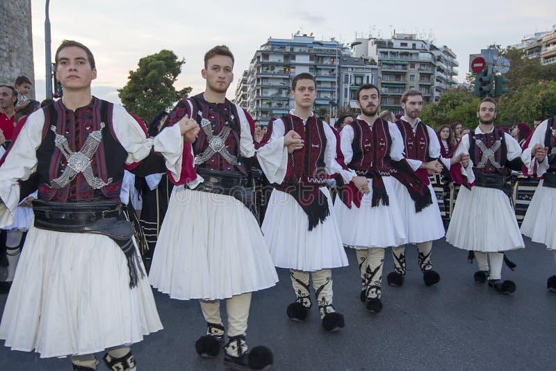 Griekse folkloregroep royalty-vrije stock afbeelding