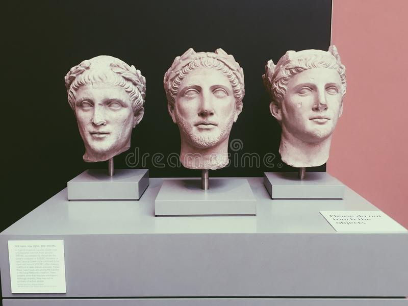 Griekse Gezichten stock foto's