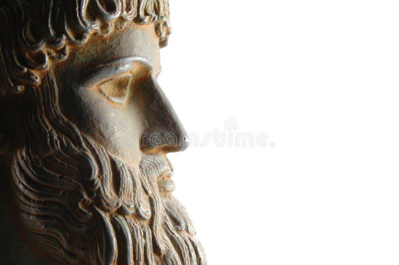 Griekse god in profiel royalty-vrije stock fotografie