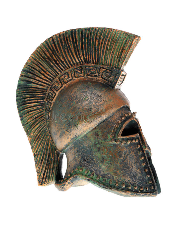 Griekse helm. royalty-vrije stock fotografie