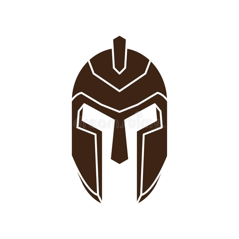 Griekse helm vector illustratie