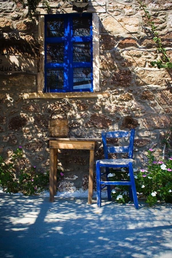 Griekse herberg royalty-vrije stock afbeelding