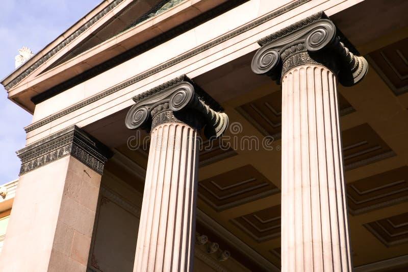 Griekse Ionische Kolom stock fotografie