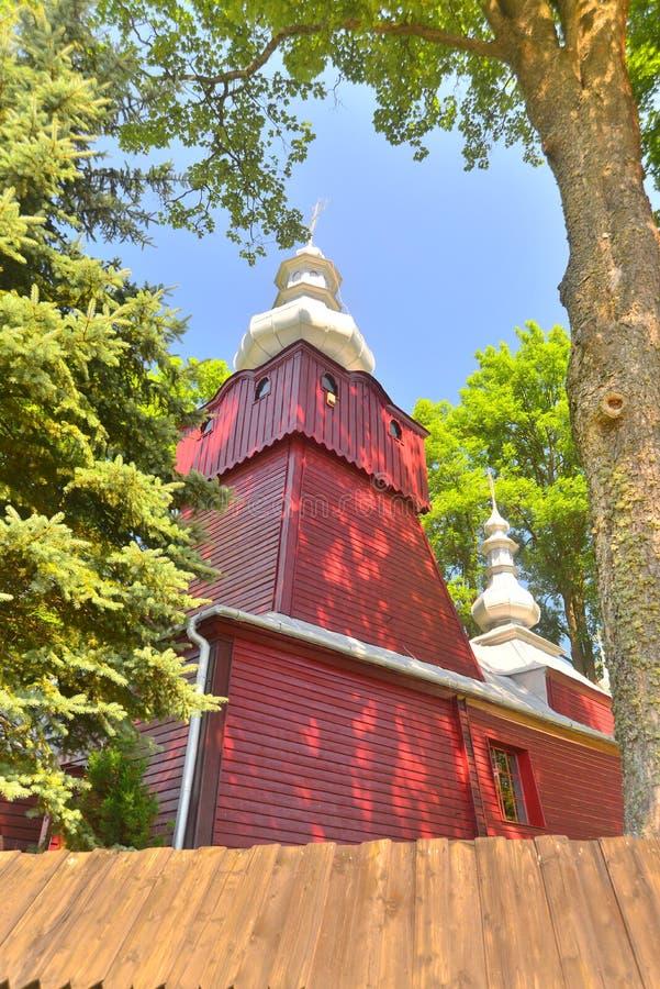Griekse katholieke houten kerk royalty-vrije stock foto