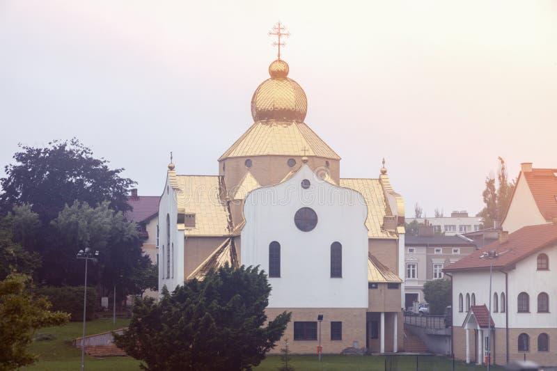 Griekse Katholieke Kerk in Koszalin stock afbeelding