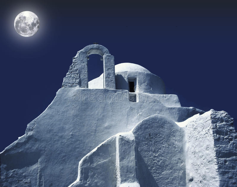 Griekse kerk stock foto