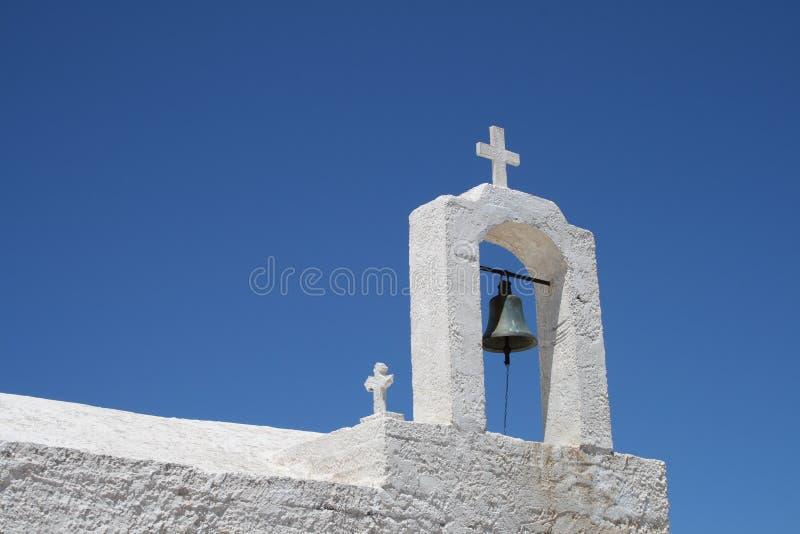 Griekse kerkklok stock foto