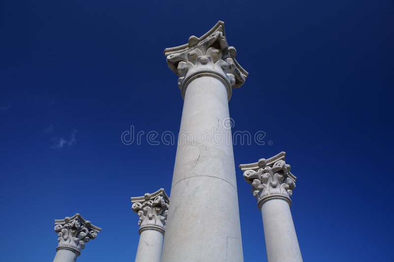 Griekse kolom stock fotografie
