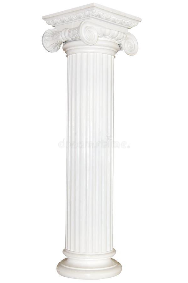 Griekse kolom royalty-vrije stock afbeelding