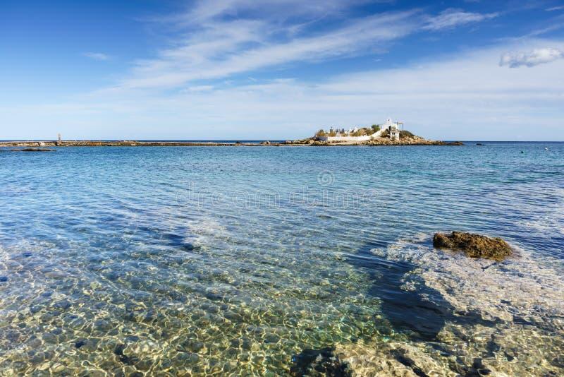 Griekse kustlijn, Agios Fokas-dorp royalty-vrije stock foto's