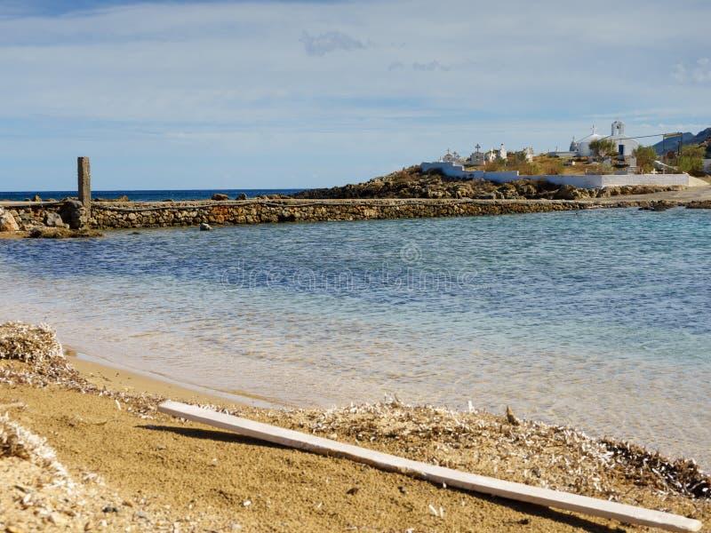 Griekse kustlijn, Agios Fokas-dorp royalty-vrije stock fotografie