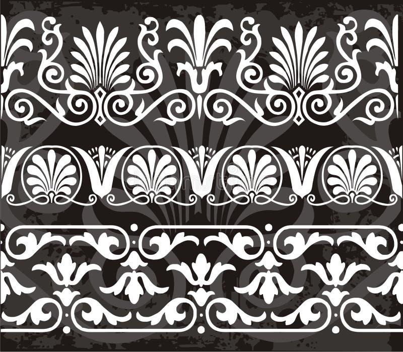 Griekse ornamenten stock illustratie