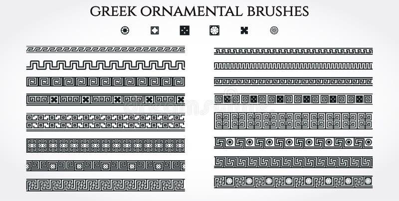 Griekse Ornamentgrens stock illustratie