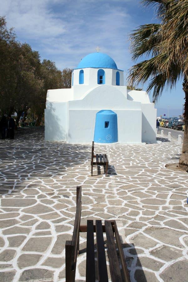 Griekse orthodoxe kerk - Paros royalty-vrije stock afbeelding