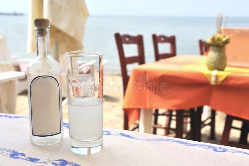 Griekse ouzo stock foto
