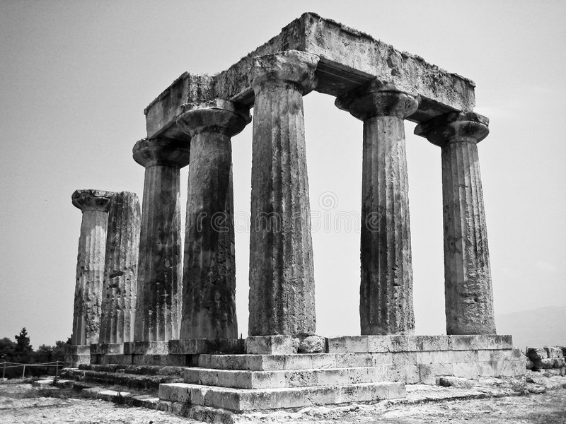 Griekse ruïnes royalty-vrije stock foto