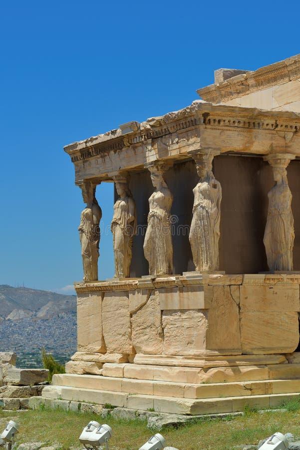 Griekse ruïnes van Parthenon op de Akropolis in Athene, Griekenland royalty-vrije stock afbeeldingen
