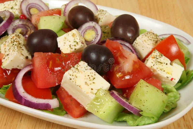 Griekse salade. royalty-vrije stock foto