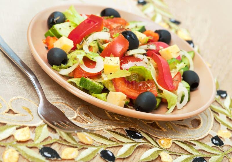 Griekse salade van groenten stock afbeelding