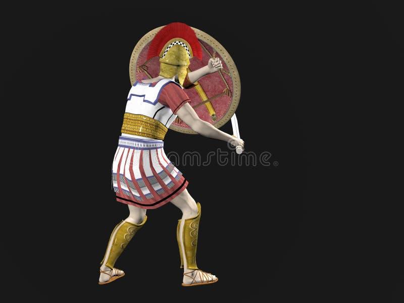 Griekse Spartaanse of Roman Strijder royalty-vrije illustratie