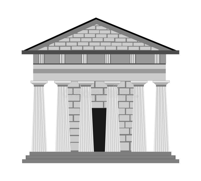 Griekse stijl in architectuur stock illustratie
