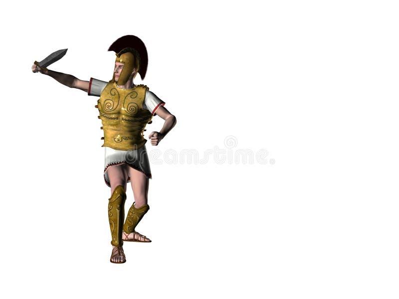 Griekse Strijder 8 vector illustratie