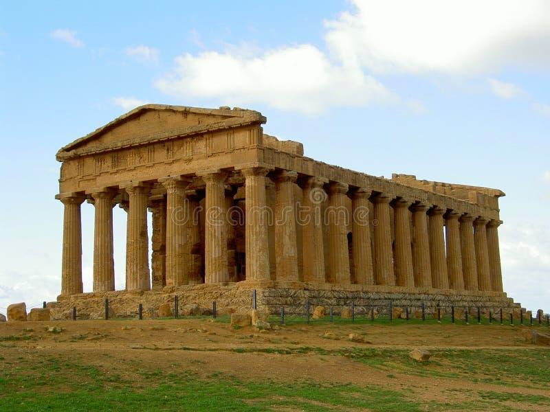 Griekse tempel royalty-vrije stock afbeeldingen