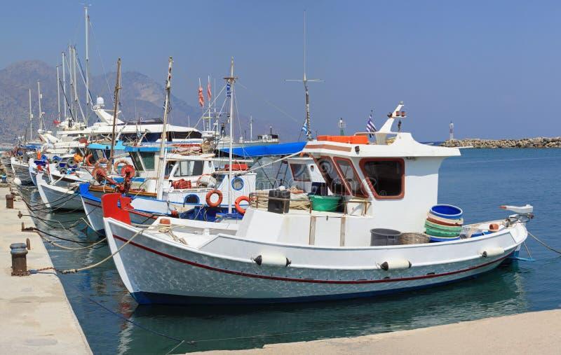 Griekse Vissersboten stock fotografie