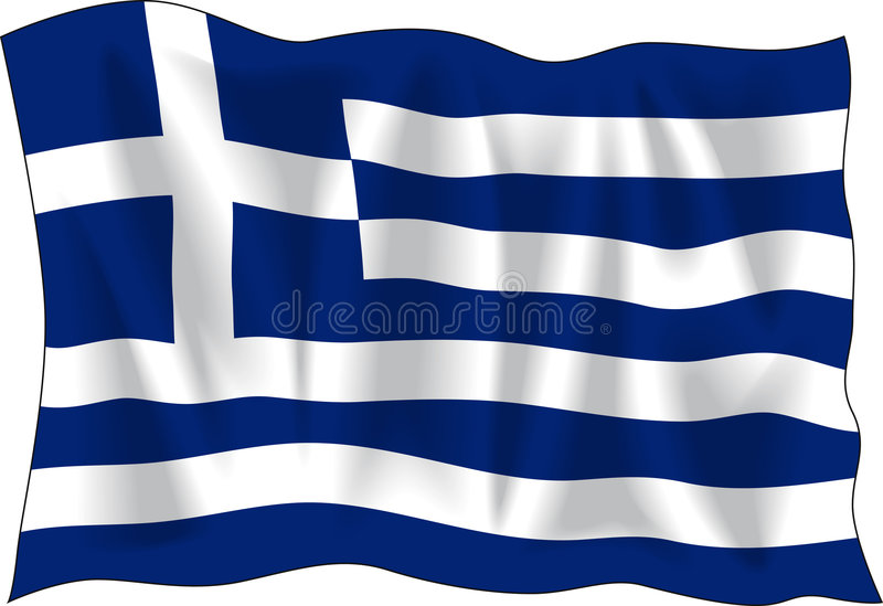 Griekse vlag royalty-vrije illustratie