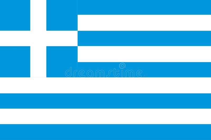 Griekse Vlag stock illustratie
