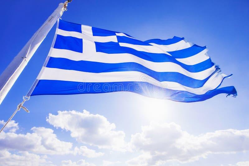 Griekse Vlag stock afbeeldingen