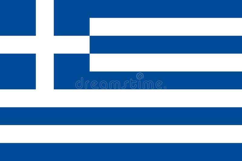 Griekse Vlag royalty-vrije stock foto