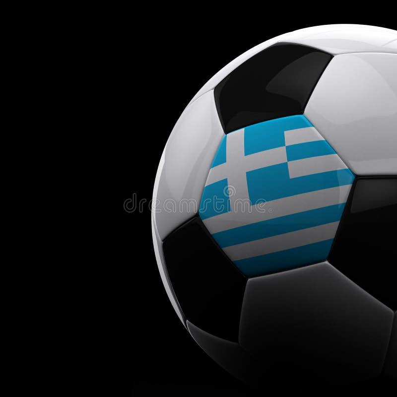Griekse voetbalbal stock illustratie