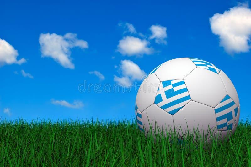 Griekse voetbalbal vector illustratie