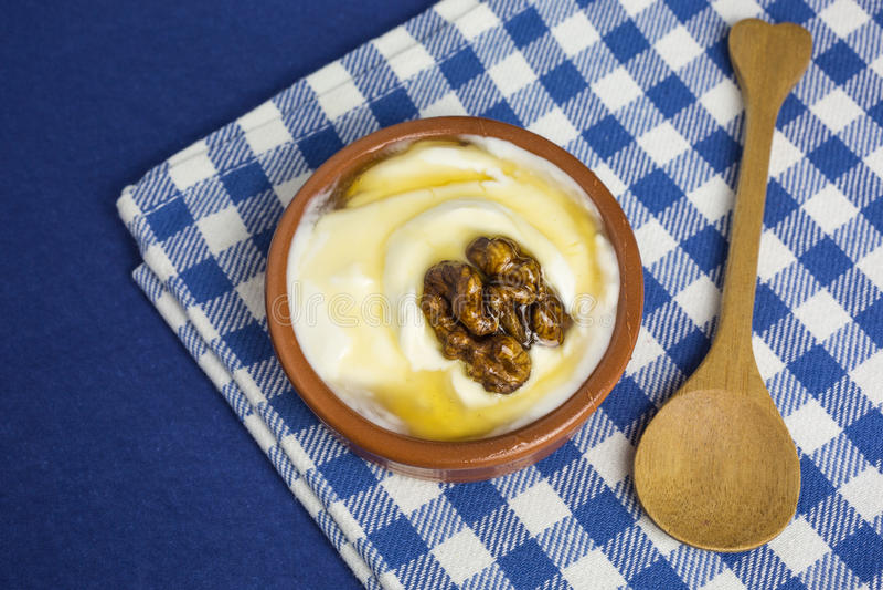 Griekse yoghurt stock foto's