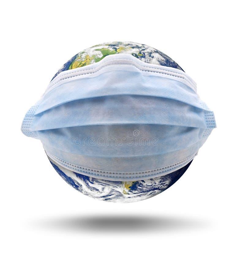Grieppandemic wereldwijd stock foto