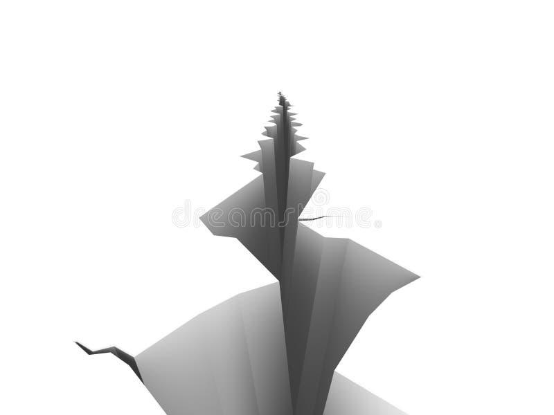 Grieta ilustración del vector