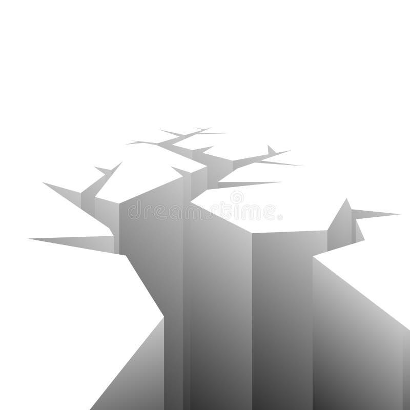 Grieta del vector ilustración del vector