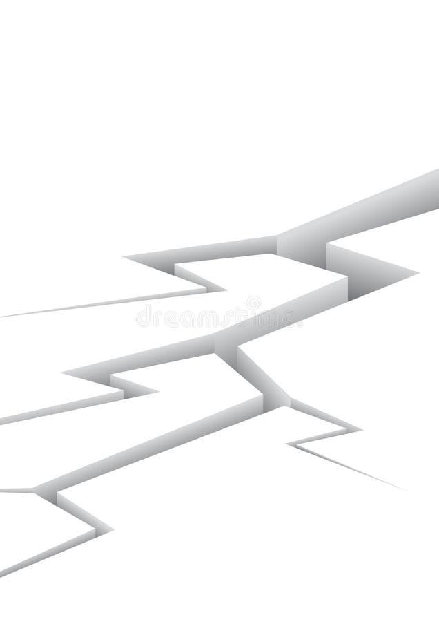 Grieta en blanco stock de ilustración