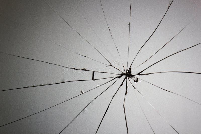 Grietas de cristal quebradas fotos de archivo